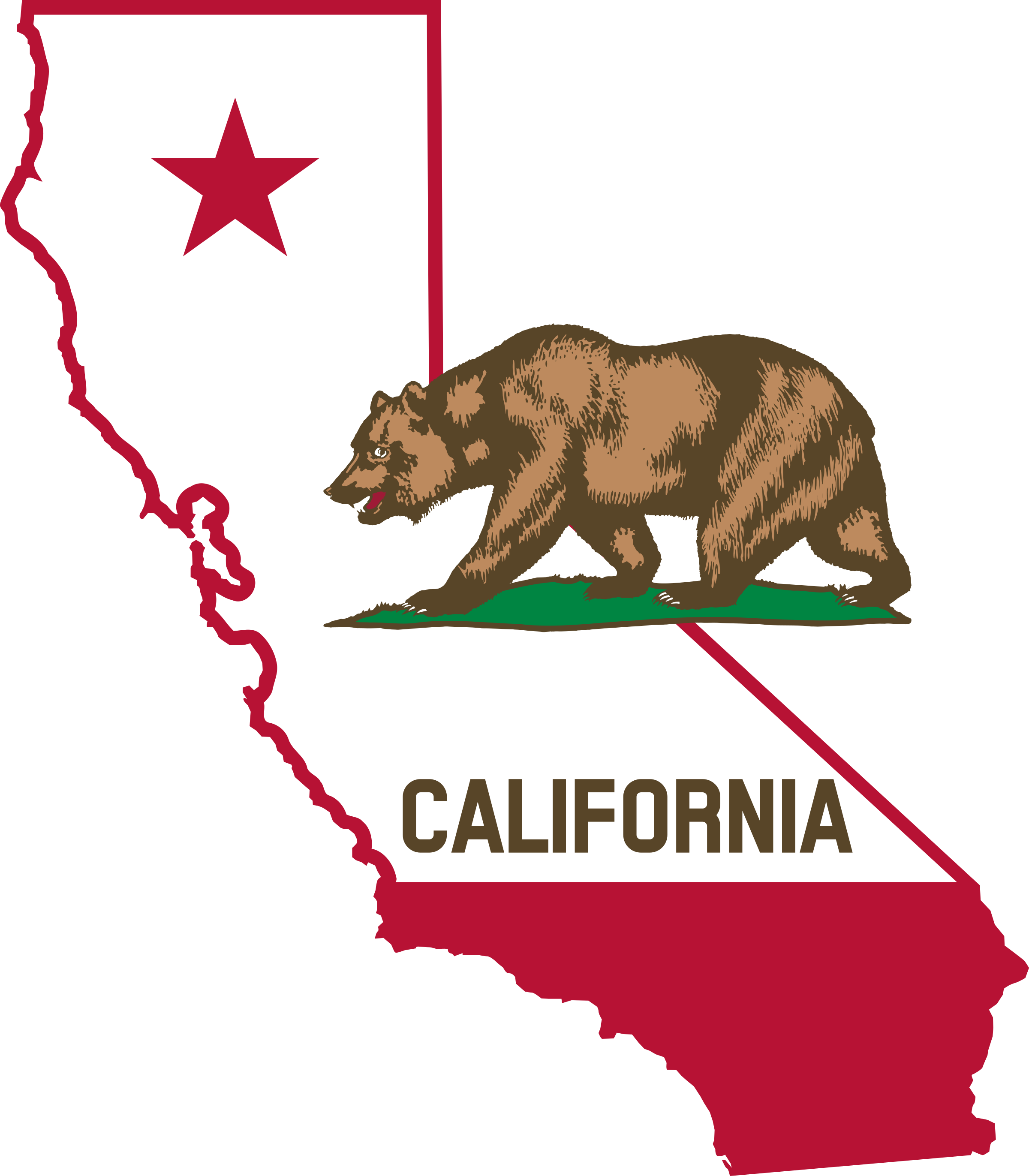 California Outline And Flag Ccdcc