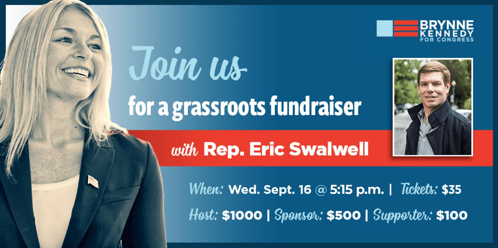 Brynne Kennedy Fundraiser w/ Special Guest Eric Swalwell